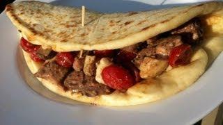 grilled greek steak sandwiches