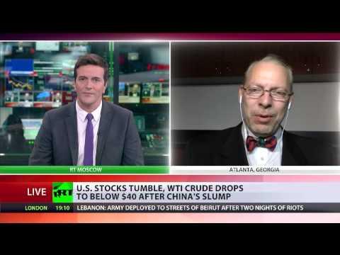 Jeffrey Albert Tucker interview with RT International on markets crash