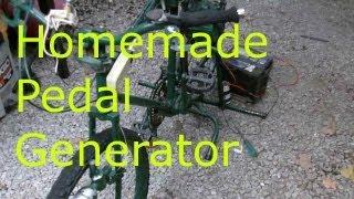 Homemade pedal generator DIY 12v 120v