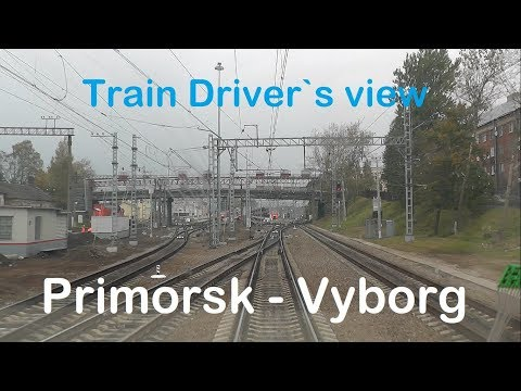 Train Driver's ViewPrimorsk - Vyborg ( Cab ride ) Russia