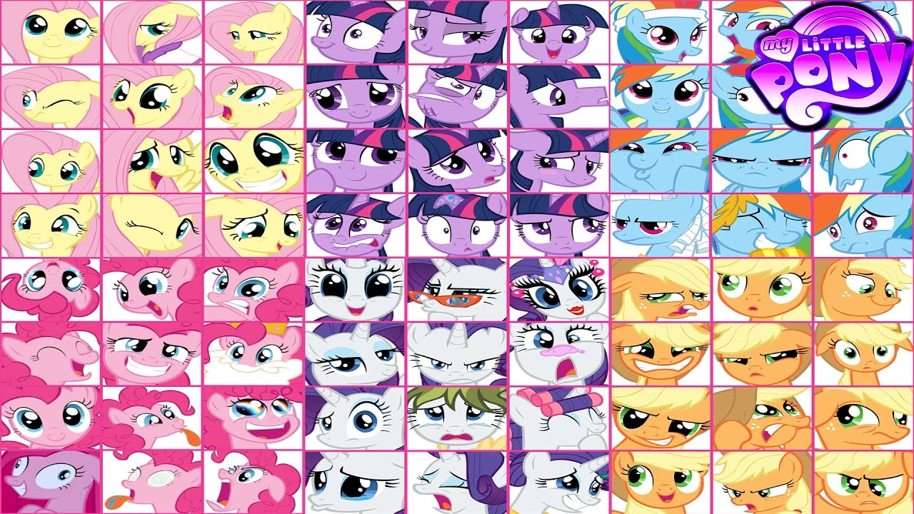 My Little Pony Emoji Faces Coloring Book Mane 6