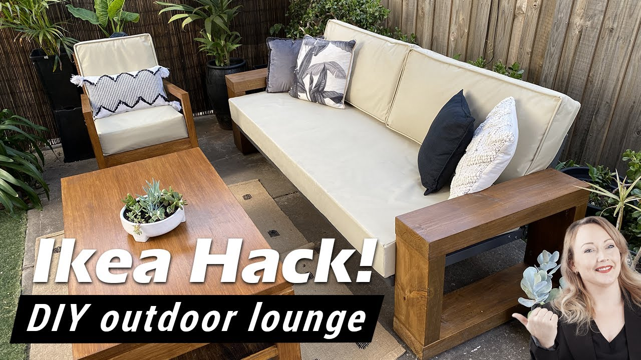 ikea hack how to make a cheap diy outdoor sofa lounge restoration hardware west elm inspired