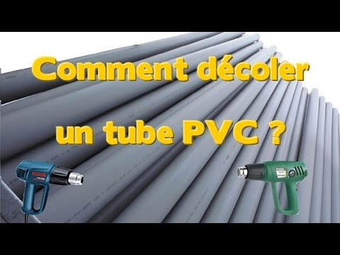 comment d coler un tube pvc avec un d capeur thermique youtube. Black Bedroom Furniture Sets. Home Design Ideas