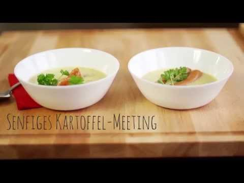 rezept kartoffelsuppe mit vollkornsenf k chenmaschine mit kochfunktion von aldi youtube. Black Bedroom Furniture Sets. Home Design Ideas