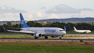 1 Hour+ A full day Planespotting at Palma De Mallorca Airport | Runway 24R (HD)