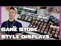 Gambar cover 4 Game Store style angled game Displays ! Nintendo DS 3DS Gameboy and Switch Collections Trophy Bit