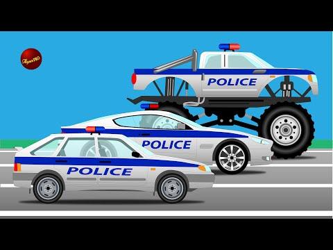 Мультфильм о полицейских машинах