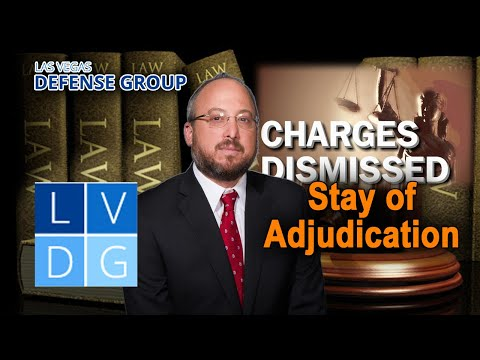 """What is a """"stayed adjudication"""" in Nevada criminal law?"""