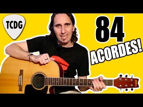 ¡Aprende 84 Acordes Para Guitarra En 1 Solo Video! TCDG