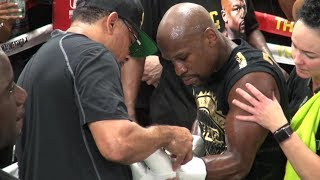Floyd Mayweather Jr. media day highlights from the Mayweather Boxing Club