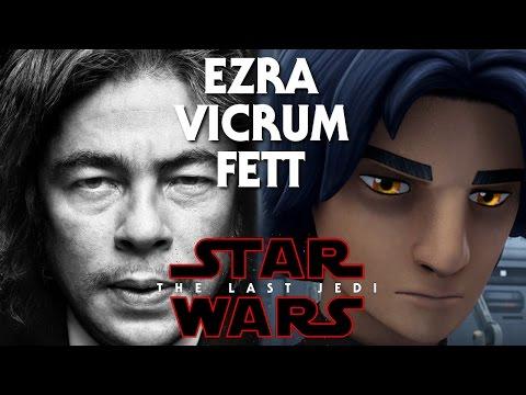 Star Wars Episode 8 The Last Jedi Man In Black! Vicrum Fett/Ezra (Benicio Del Toro)