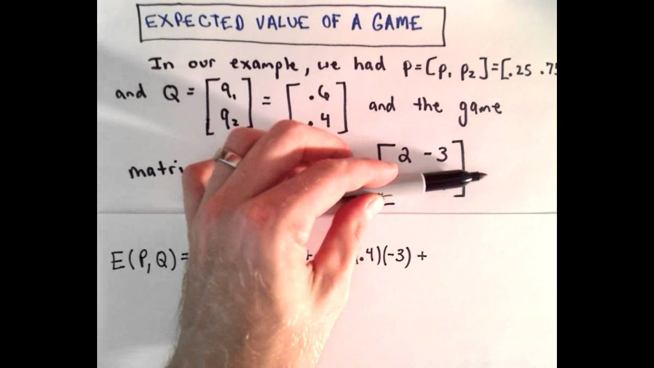game theory part 5 expected value of a game youtube