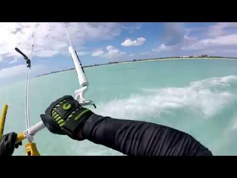 Kitesurfing in Long Bay, Providenciales, Turks & Caicos
