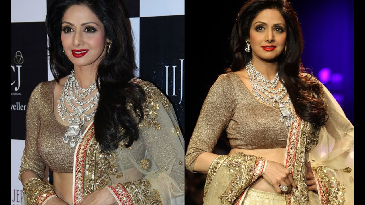 Download Hottest Sridevi in Golden Outfits at IIJW