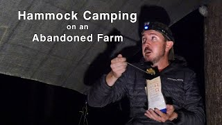 Hammock Camping on an Abandoned Mountain Farm - Quehanna Trail Ultralight Backpacking