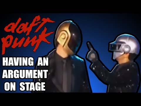 Daft Punk having an argument on stage