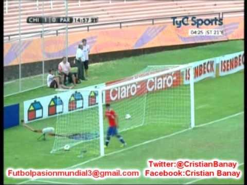Chile 1 Paraguay 3 (Tyc Sports)  Sudamericano Sub 20 2013 Los goles.(20/1/2013)