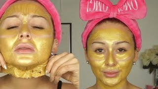 Gold peel off mask review | Mask Mondays Yes Hipolito