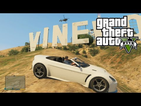 GTA 5: View from VINEWOOD SIGN - How To Find Vinewood (Hollywood) Sign (GTA V)