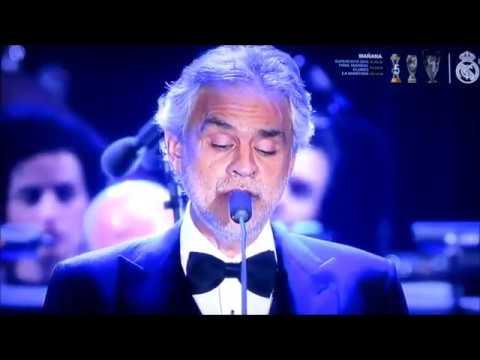 NESSUN DORMA ANDREA BOCELLI TENOR Italiano TEATRO REAL MADRID en vivo Navidad 2016 mp4
