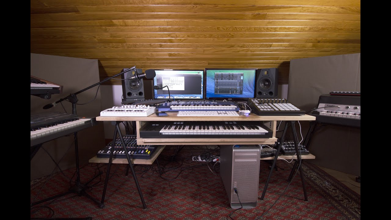 Rec n 2 home studio tour 2016 youtube for Home video tours