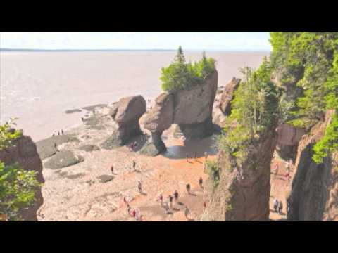 The Hopewell Rocks - OFFICIAL Time Lapse Video Of 45.6 Foot Tide