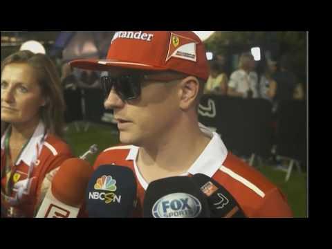 Kimi Raikkonen Out Gp Singapore F1 2017