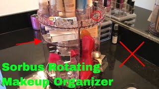 ✅  How To Use Sorbus Rotating Makeup Organizer Review