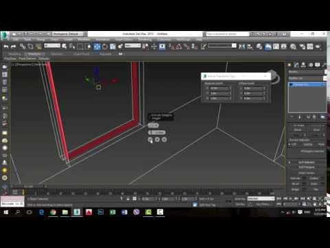 3ds max simple architecture room modeling - editable poly
