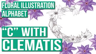 """Floral Illustration Alphabet 