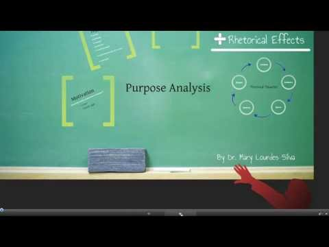 Purpose Analysis (Rhetorical Situation)--Part 1 of 6