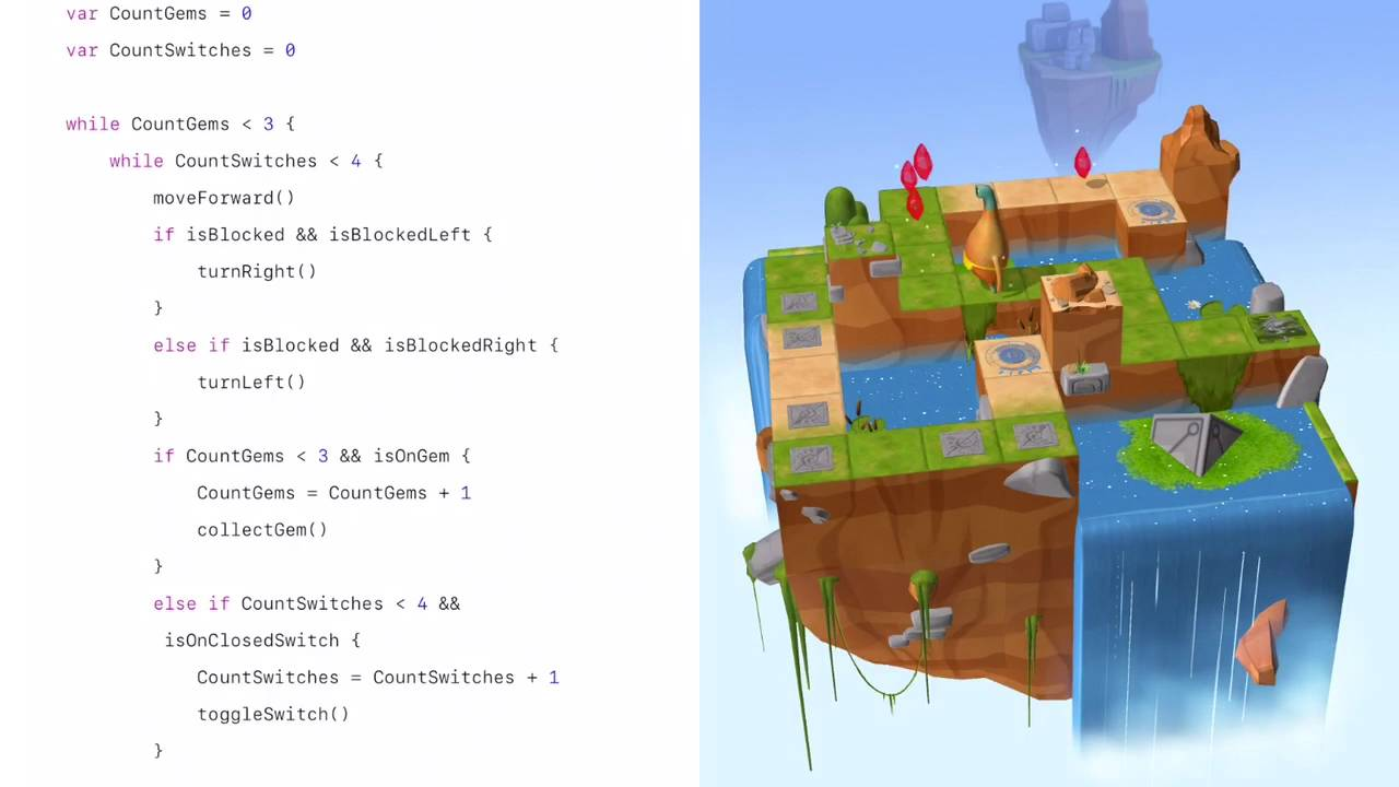 Swift Playground (Three Gems, Four Switches)   Learn to Code 2 ...