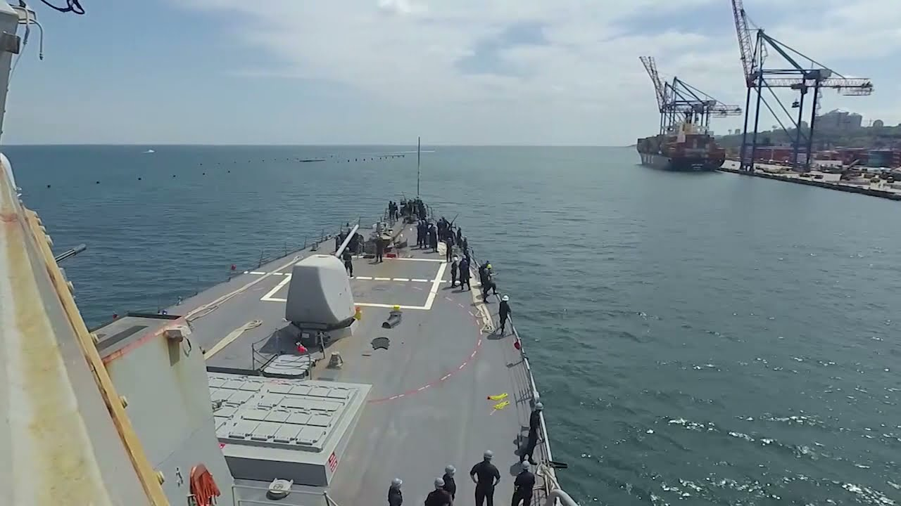 US Military News • USS Ross Pulls into Odessa, Ukraine for Exercise Sea Breeze 2021