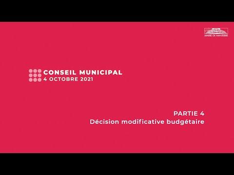 Conseil municipal du 4 octobre 2021 - PARTIE 4