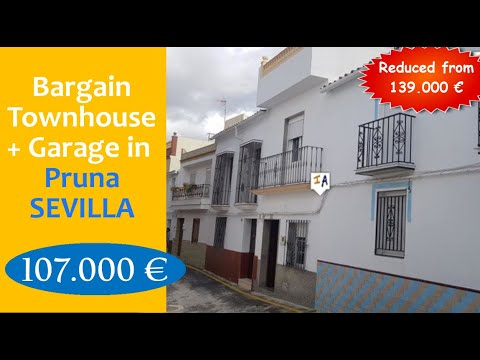 TH3717 Bargain Furnished Property + Garage/Terrace for sale in Spain Pruna Sevilla inland Andalucia.