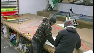 Making a Custom Windsurf Sail, Cornwall, Ross Windsurf