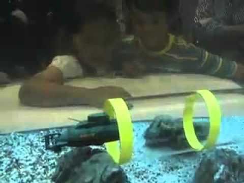 модель подводной лодки из бутылки