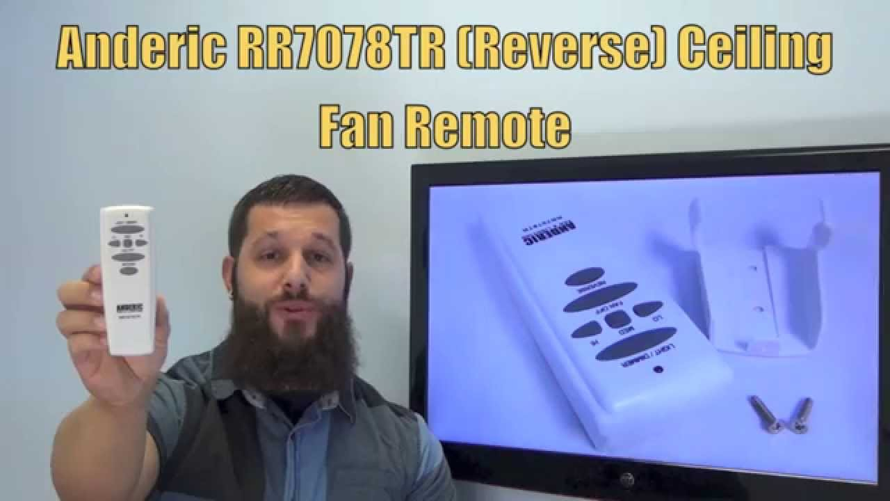 Anderic Rr7078tr Reverse Fan Lighting Anderic