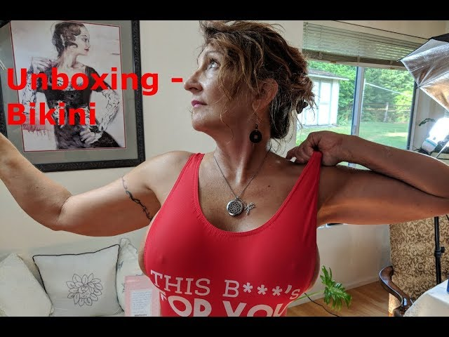 Bikini MILF Mom 55 - Unboxing Bikini Fanatics - Watch In HD
