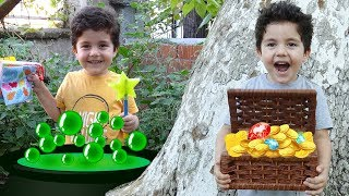 Yusuf Sihir Yaptı ve Hazine Buldu | Yusuf pretend play with magic toys
