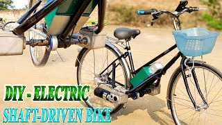 DIY Electric Shaft-Driven Bike Using Twin 500W Reducer Motor - Cardan Bike