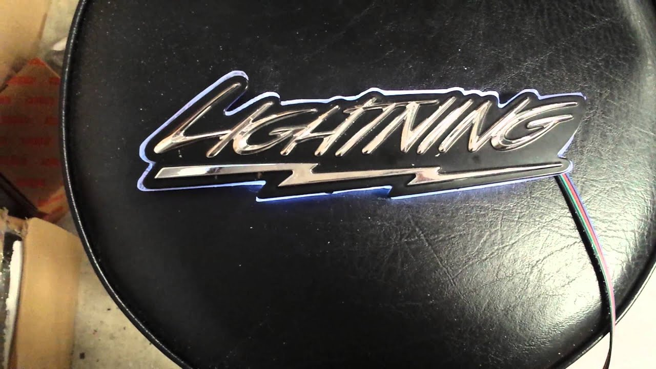 Illuminated Ford Lightning Logo Emblem