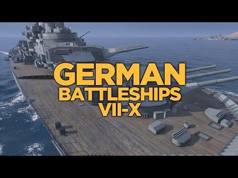 World of Warships - German Battleships VII-X