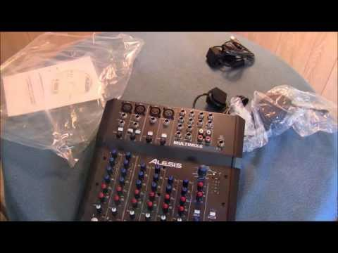 UNBOXING- Alesis Multimix 8 USB FX 2.0 8-Channel Mixer with FX and 24-Bit Recording