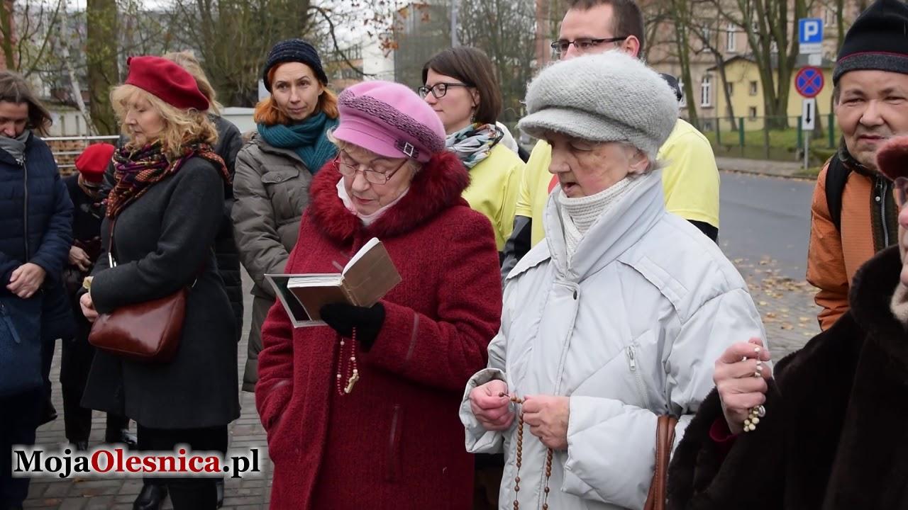25.11.2017 Oleśnica – antyaborcyjny protest pod szpitalem