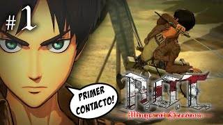 ATTACK ON TITAN WINGS OF FREEDOM #1 | ENTRENAMIENTO CONTRA LOS TITANES | Gameplay Español Let´s Play