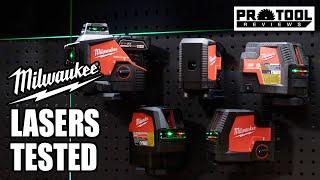 Milwaukee Green Laser Levels - M12 & RedLithium USB Models