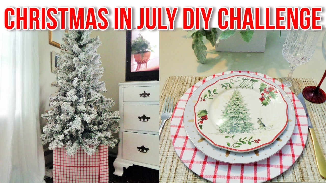 Christmas In July Diy Challenge Modern Farmhouse Christmas Decorating Ideas 2020 Youtube