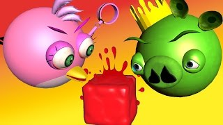 ANGRY BIRDS do JELLY JUMP  ♫ 3D animated  GAME mashup  ☺ FunVideoTV - Style ;-))