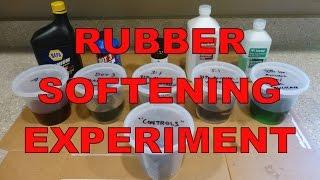 Rubber Softening Experiment : Wintergreen Oil, Brake Fluid, ATF & More